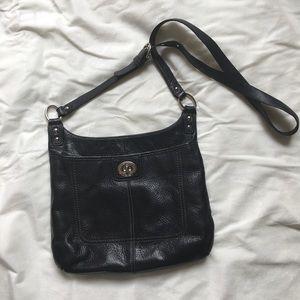 Coach Black Pebbled Leather Crossbody Bag